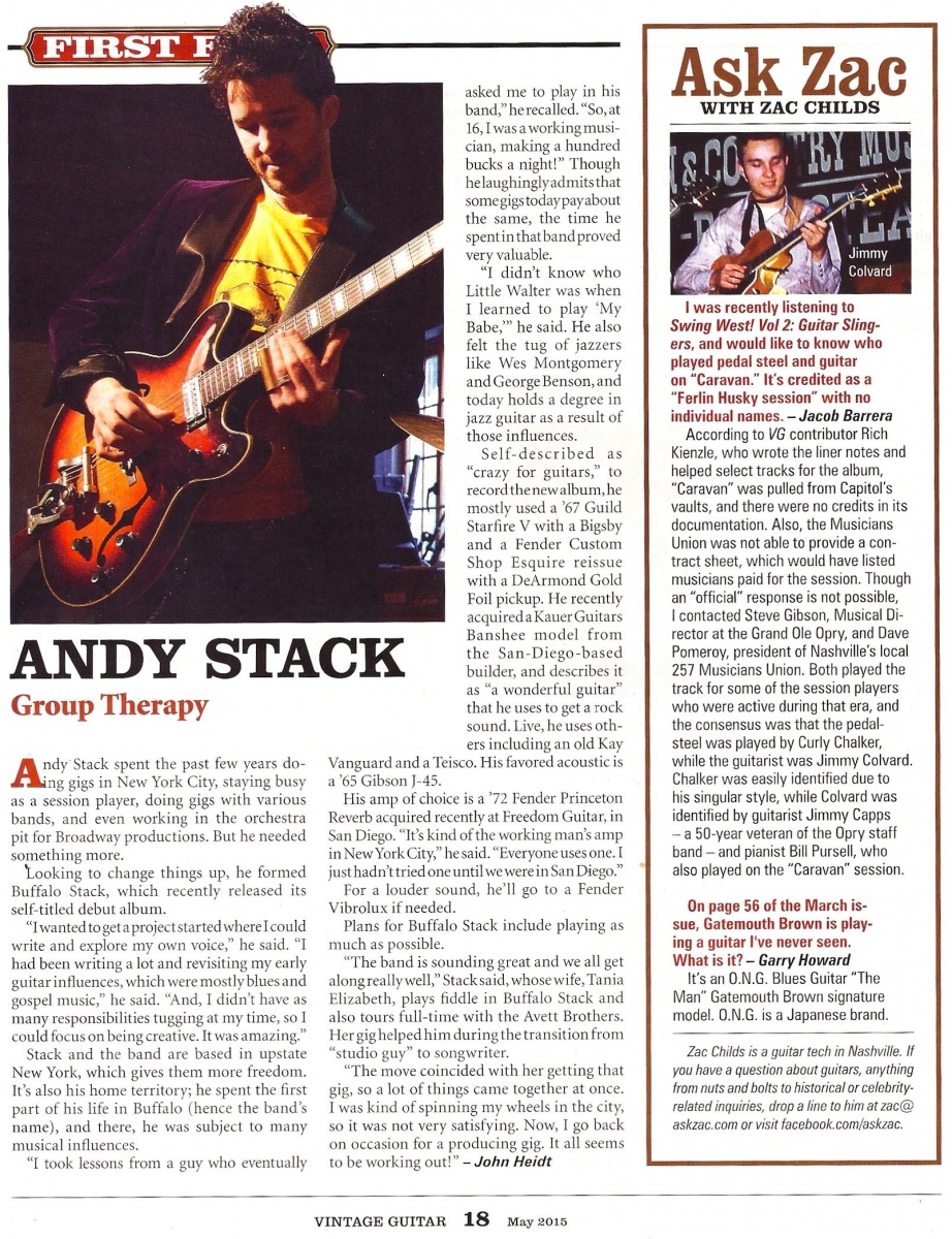 Andy Stack - Vintage Guitar Magazine